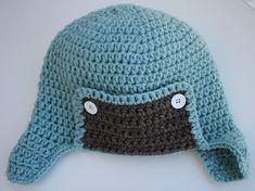 Crochet Baby Hat Crochet Aviator Hat Handmade Hat Kid's