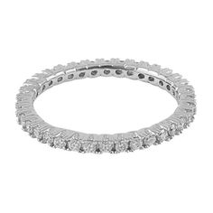 I am absolutely in love with the Sterling Silver Cubic Zirconia Eternity Band Ring from #jewelexclusive