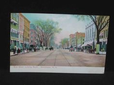 Antique Postcard Elm St Looking South Manchester NH | eBay