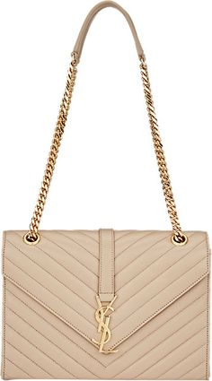 CLASSIC DOUBLE GOURMETTE CHAIN FLAP FRONT BAG WITH GOLD-TONED ...