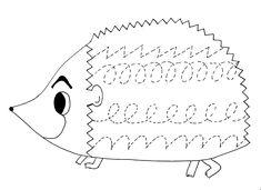 Hedgehog Coloring Pages for Kids - Preschool and Kindergarten Color Worksheets For Preschool, Preschool Writing, Fall Preschool, Preschool Letters, Tracing Worksheets, Preschool Printables, Kindergarten Worksheets, Preschool Activities, Hedgehog Craft