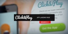 Click & Play - App Landing Page
