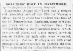 Genealogical Gems: On This Day: Soldiers head to Philadelphia after r...