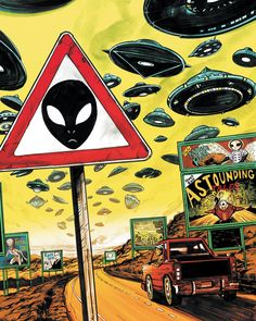 is my special meeting place for all alien and UFO lovers and believers! Come and find the best Alien and UFO stuff out there! Psychedelic Art, Alien Art, Art Inspo, Alien Aesthetic, Wallpaper, Painting, Art, Art Wallpaper, Pop Art