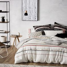 Home Republic - Mala Linen Quilt Cover Set - Bedroom - Quilt Covers & Coverlets - Adairs Online