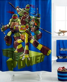 Disney Age Mutant Ninja Turtles Shower Curtain