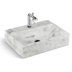 """LMS-024 - 24"""" Lavabo de marbre gris"""