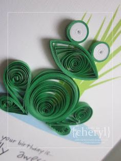 ~ a paper {life}: ~ quilled toad {or frog}