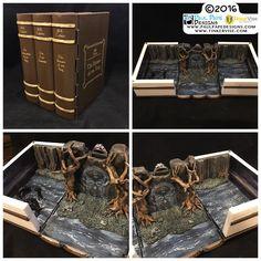 #lordoftherings #lotr #gatesofmoria #book #diorama #custom #engagement #ringbox by #paulpapedesigns #tinkervisestudios