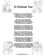 Christmas Carol Lyrics Sheets, Free Printable Christmas Song Sheets | BlueBonkers