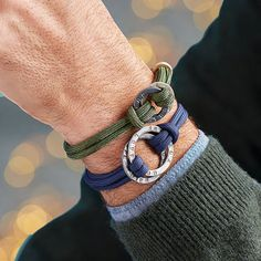 Men's Personalised Entwined Halo Bracelet