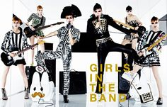 GIRLS IN THE BAND アップビートなオンステージ。 PHOTOGRAPHED BY SHARIF HAMZA STYLED BY GIOVANNA BATTAGLIA