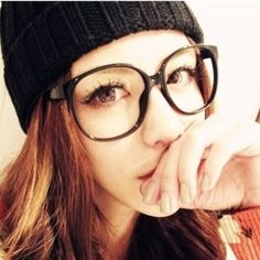 2014 new Korean style young girl's retro big round black frame glasses women fashion decorated glasses tide oculos