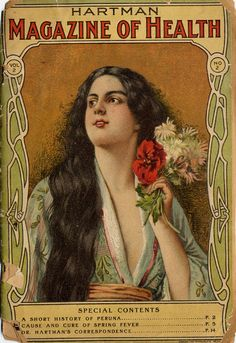 I want to see the article on Spring Fever! Something about the cover model seems decidedly Loose to me... you just know she's not wearing proper undergarments. Hartman Magazine of Health [catalogue]; 1904.