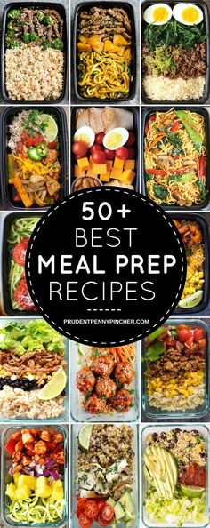 50 Best Meal Prep Recipes #mealprep #healthy