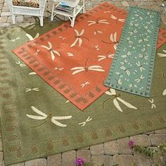 Dragonfly Indoor/Outdoor Rugs @ Fresh Finds