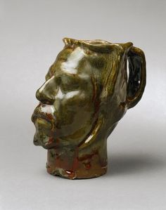 Self-Portrait Vase in the form of a severed head. Paul Gauguin. 1889. This piece was created after an incident with van Gogh that ended with van Gogh's ear severed from his body.