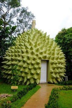Durian hotel room at Kanchanaburi, Thailand
