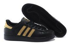 Adidas Superstar Black Gold