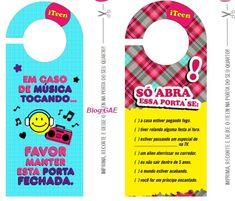 Casinha de Criança: Tags para Porta (Imprimir)