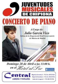 Piano Concert by Juventudes Musicales de Chipiona on the 28th of April!