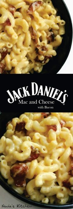 Whiskey and bacon come together for a killer pasta dish in this Jack Daniel's Bacon Mac and Cheese! via (Baking Pasta Macaroni And Cheese) Macaroni Cheese Recipes, Bacon Mac And Cheese, Bacon Recipes, Pasta Recipes, Dinner Recipes, Cooking Recipes, Easy Cooking, Mac And Cheese Pasta, Bacon Bacon