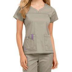 Med Couture MC2 Lexi Notch Neck Scrub Top & Layla Cargo Scrub Pant Set Medical Scrubs, Nursing Scrubs, Healthcare Uniforms, Stylish Scrubs, Beauty Uniforms, Lab Coats, Scrub Pants, Scrub Tops, Couture Collection