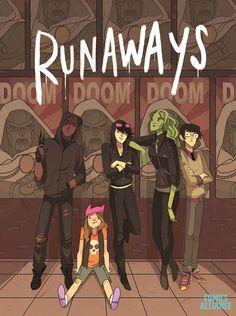 Noelle Stevenson's Variant Cover for 'Runaways' #2