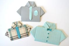 This shirt and tie card from She Knows is great for older kids to try. (Or, you could do the folding and let the younger kids have the super important job of picking out tie colors.) It's a dapper card for a dapper dude. #FathersDay #DIY