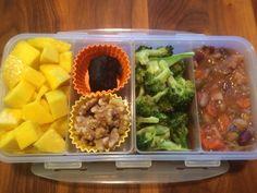 Mango, Raw Gluten-Free Homemade Snicker's Bar, Walnuts, Roasted Broccoli, Dr. Fuhrman's Italian Minestrone Soup