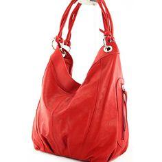 modamoda de - ital. Handtasche Damentasche Schultertasche Ledertasche Tasche Nappaleder Z18, Präzise Farbe:Hellrot - http://herrentaschenkaufen.de/modamoda-de-made-in-italy/hellrot-modamoda-de-ital-handtasche-damentasche-2