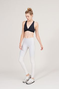 Warmup Leggings by Outdoor Voices in Oatmeal & Whiteout* //  These are the rare class of leggings that actually stay up during both my barre class and a morning run.