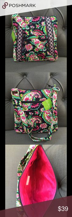 "NWT VERA BRADLEY HIPSTER Brand new with tags very Bradley hipster  Petal paisley pattern   10 ¾"" W x 11"" H x 1¾"" D with 52"" adjustable strap.  Adjustable shoulder strap 1 slip and 1 zip pocket on the front and 1 zip pocket on the back of the bag Three interior slip pockets Vera Bradley Bags Crossbody Bags"