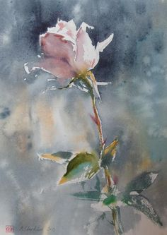 Konstantin SterkhovWatercolor Workshops and Master-classes Watercolor Rose, Watercolor Artists, Watercolour Painting, Painting & Drawing, Watercolors, Beautiful Paintings, Flower Art, Art Photography, Fine Art