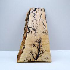 Lightning Strikes by Tried and True Woodwork, Live Edge Maple Lichtenberg Wood…