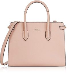 1d9a6f109acd Furla Moonstone Leather Pin Small E/w Tote Bag Pink Leather, Furla, Pink