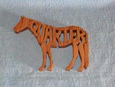 Quarter Horse Wooden Puzzle