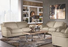 Cindy Crawford Home Grand Palazzo Beige Leather 3 Pc Living Room . $2,212.99.  Find affordable Leather Living Rooms for your home that will complement the rest of your furniture.
