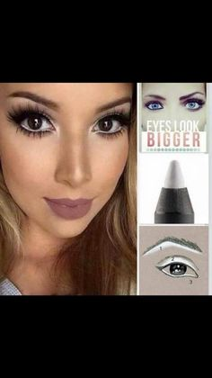 Ever wondered what white eyeliner can do?  it can creat magic eyes!! A must for your make up bag!!
