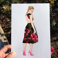 #WeLike #Paper #Drawings Creative Fashion Dresses Compositions