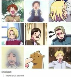 This is HETALIA << you know... wait you know of nothing yet<<You didn't see AOT yet