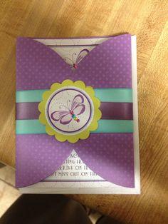 Purple butterfly invitations :)
