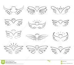 Vector sketch angel wings in cartoon style isolated on white background. Cartoon wings element line illustration Vector sketch angel wings in cartoon style isolated on white background. Cartoon wings element line illustration Small Wing Tattoos, Wing Tattoos On Wrist, Dainty Tattoos, Small Tattoos With Meaning, Little Tattoos, Mini Tattoos, Cute Tattoos, Body Art Tattoos, Sleeve Tattoos