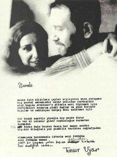 """Turgut Uyar'dan Tomris Uyar'a: """"Bir bozuk saattir yüreğim hep sende durur"""""""