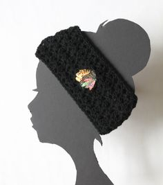 Chicago Blackhawks Hockey Headband by ThatGirlsCrafts on Etsy, $15.00