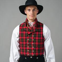 Vest mannsbunad Valdres Folk Costume, Costumes, Folk Clothing, Vest, Hipster, Lady, Jackets, Norway, Sweden