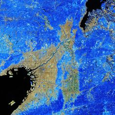 Space in Images - 2018 - 10 - Kyoto and Osaka Kyoto, Osaka Japan, Earth From Space, Blue Dream, Colour Images, Cosmos, Tokyo, Clouds