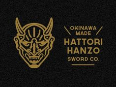 Branding: Gold / Dribbble - Hanzo Demon by Mitch Bartlett