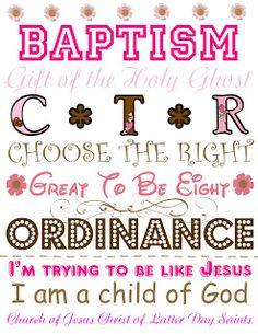 For creative Inspiration. Oh Fiddlesticks!: It's great to be Baptism Banner, Baptism Cards, Baptism Gifts, Baptism Ideas, Lds Primary Lessons, Fhe Lessons, Lessons For Kids, Primary Resources, Mormon Baptism