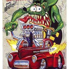 Dodge Charger HEMI Gasser Drag Car Fink Bumper Sticker or Fridge Magnet